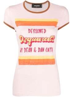 Dsquared2 футболка узкого кроя с логотипом