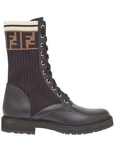Fendi ботинки Rockoko в стиле милитари