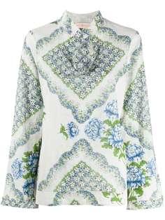 Tory Burch блузка с цветочным принтом