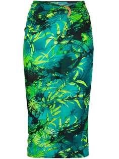 Versace юбка с присборенной талией и принтом Jungle