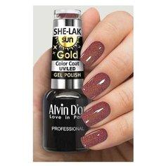 Гель-лак Alvin Dor She-Lak Sun Gold, 8 мл, оттенок 6407