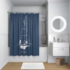 Штора для ванной IDDIS Basic 180x200, темно-синий (B32P218i11)