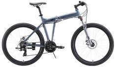 """Складной велосипед Stark Cobra 26.2 D (2020) размер рамы 20"""" Серо-черный"""