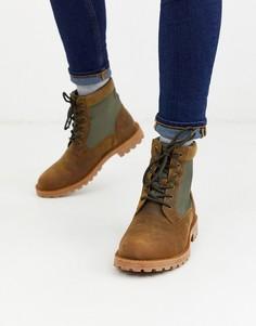 Непромокаемые кожаные ботинки светло-коричневого цвета Barbour-Светло-коричневый