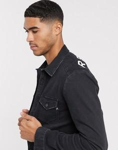 Джинсовая куртка Replay-Черный