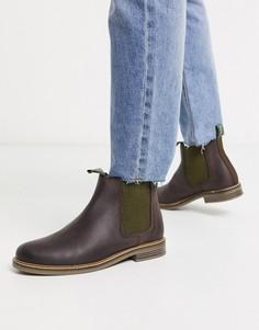 Темно-коричневые кожаные ботинки челси Barbour-Коричневый
