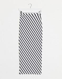 Трикотажная юбка мидакси в полоску ASOS DESIGN-Мульти