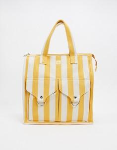 Желтая пляжная сумка в полоску LF Markey-Желтый