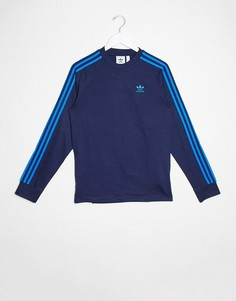 Лонгслив с 3 полосами Adidas Originals-Синий