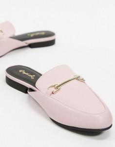 Розовые лоферы-мюли Qupid-Розовый