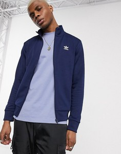 Темно-синяя олимпийка с логотипом adidas Originals-Черный