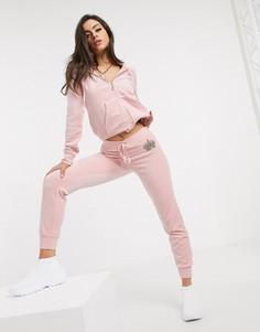 Розовые велюровые джоггеры Juicy Couture-Розовый