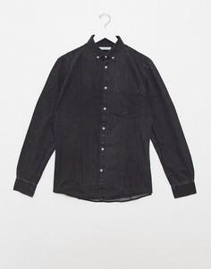 Серая джинсовая рубашка Celio-Серый