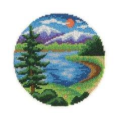 Klart Набор для вышивания бисером У озера 14 x 14 см (8-106)