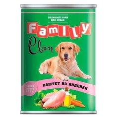 Корм для собак CLAN (0.415 кг) 1 шт. Family Паштет из индейки для собак