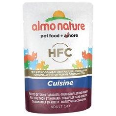 Корм для кошек Almo Nature Classic с тунцом, с лобстером 55 г