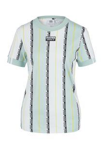 Хлопковая футболка в полоску с короткими рукавами Adidas Originals