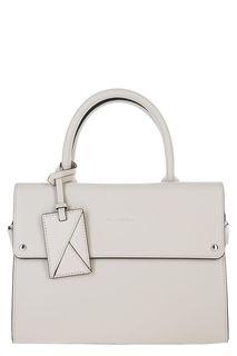 Кожаная сумка со съемным плечевым ремнем Karl Lagerfeld