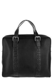 Черная сумка с отделением для ноутбука Guess