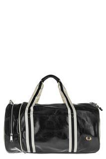 Черная спортивная сумка с плечевым ремнем Fred Perry
