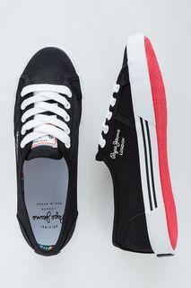 Текстильные кеды черного цвета Pepe Jeans
