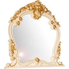 Зеркало Мэри Дольче Вита СДВ-06 белый глянец с золотом Meri