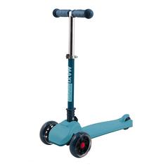 """Самокат """"Mini"""", со светящимися колесами, цвет: голубой Maxiscoo"""