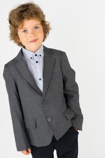 Пиджак для мальчика Gulliver, цв.серый, р-р 140