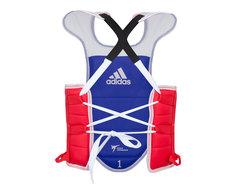 Защита корпуса двухсторонняя Adidas Adult Body Protector Reversible WT сине-красная XL