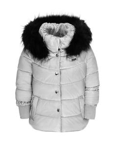 Куртка для девочек Gulliver, цв. серебряный, р.116
