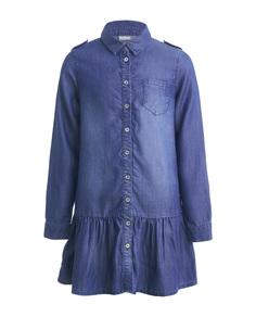 Платье для девочек Gulliver, цв. синий, р.164