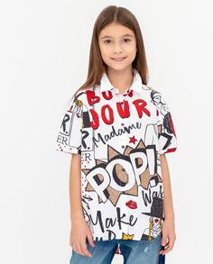 Рубашка для девочек Gulliver, цв. белый, р.146