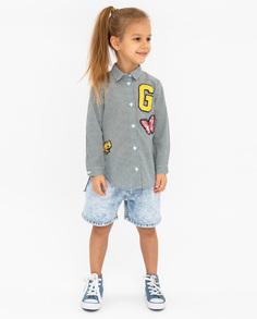Рубашка для девочек Gulliver, цв. зеленый, р.98