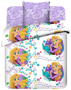 Комплект постельного белья Disney Новая история Рапунцель 4304627