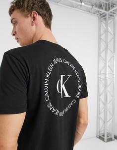Черная футболка с логотипом на спине Calvin Klein Jeans-Черный
