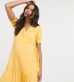 Платье мини с запахом ASOS DESIGN Maternity-Желтый