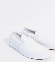 Белые кеды-слипоны из искусственной кожи Vans Classic эксклюзивно на ASOS-Белый