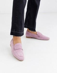 Лавандовые замшевые лоферы ASOS DESIGN-Фиолетовый