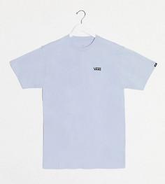 Пастельно-голубая футболка с логотипом на груди слева Vans эксклюзивно для ASOS-Синий
