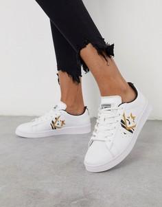 Белые кожаные кроссовки Converse Pro-Белый
