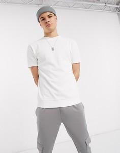 Белая футболка из органического хлопка с короткими рукавами ASOS DESIGN-Белый