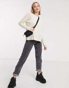 Джемпер кремового цвета с длинными рукавами Noisy May-Кремовый