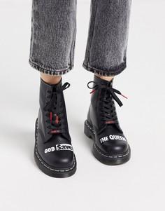 Ботинки Dr Martens 1460 x Sex Pistols-Черный