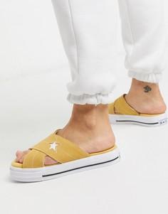 Желтые сандалии Converse one star-Желтый