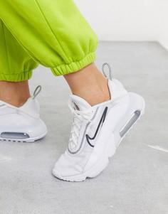Черно-белые кроссовки Nike Air Max 2090-Белый