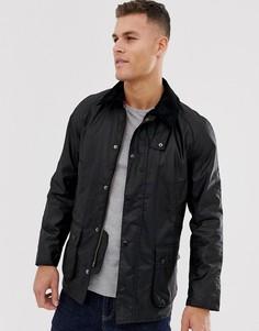 Черная вощеная куртка Barbour-Черный