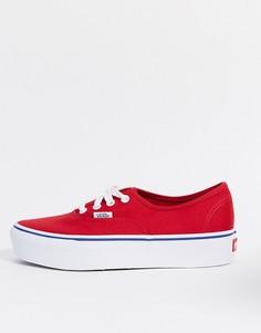 Красные кеды на платформе Vans UA Authentic-Красный