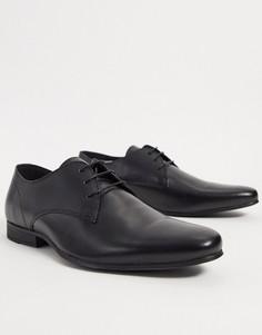 Черные кожаные дерби Topman-Черный