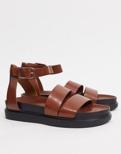 Светло-коричневые кожаные сандалии с двойными ремешками Vagabond-Светло-коричневый