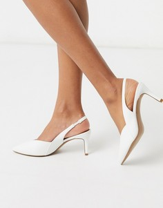 Белые туфли на каблуке-рюмочке ASOS DESIGN-Белый
